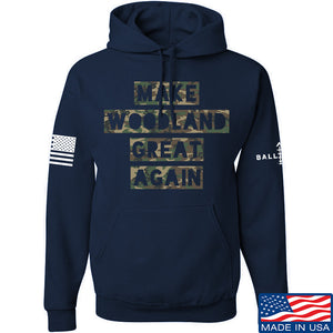 9mmsmg Make Woodland Great Again Hoodie Hoodies Small / Light Grey by Ballistic Ink - Made in America USA