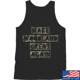 9mmsmg Make Woodland Great Again Tank Tanks SMALL / Black by Ballistic Ink - Made in America USA