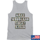 9mmsmg Make Woodland Great Again Tank Tanks SMALL / Light Grey by Ballistic Ink - Made in America USA