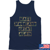 9mmsmg Make Woodland Great Again Tank Tanks SMALL / Navy by Ballistic Ink - Made in America USA