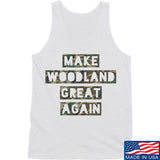 9mmsmg Make Woodland Great Again Tank Tanks SMALL / White by Ballistic Ink - Made in America USA