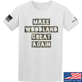 9mmsmg Make Woodland Great Again T-Shirt T-Shirts Small / White by Ballistic Ink - Made in America USA