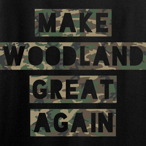 9mmsmg Ladies Make Woodland Great Again V-Neck T-Shirts, V-Neck [variant_title] by Ballistic Ink - Made in America USA
