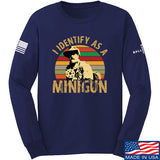 9mmsmg Identify As Minigun Long Sleeve T-Shirt Long Sleeve Small / Navy by Ballistic Ink - Made in America USA