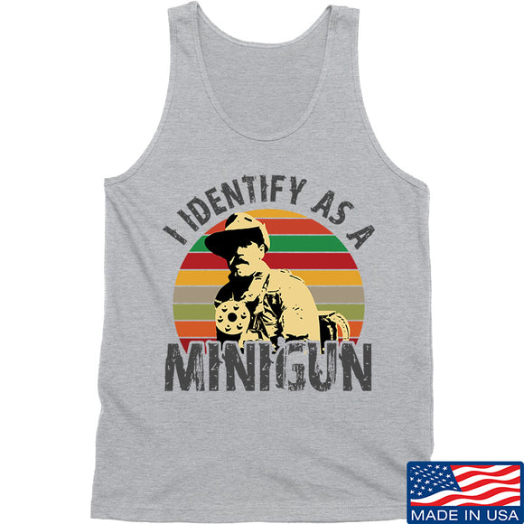 9mmsmg Identify As Minigun Tank Tanks SMALL / Light Grey by Ballistic Ink - Made in America USA
