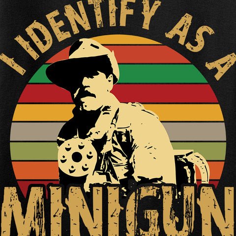 9mmsmg Identify As Minigun Long Sleeve T-Shirt Long Sleeve [variant_title] by Ballistic Ink - Made in America USA