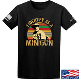 9mmsmg Identify As Minigun T-Shirt T-Shirts Small / Black by Ballistic Ink - Made in America USA