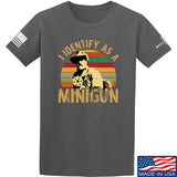 9mmsmg Identify As Minigun T-Shirt T-Shirts Small / Charcoal by Ballistic Ink - Made in America USA