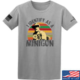 9mmsmg Identify As Minigun T-Shirt T-Shirts Small / Light Grey by Ballistic Ink - Made in America USA
