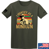 9mmsmg Identify As Minigun T-Shirt T-Shirts Small / Military Green by Ballistic Ink - Made in America USA