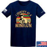 9mmsmg Identify As Minigun T-Shirt T-Shirts Small / Navy by Ballistic Ink - Made in America USA