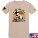 9mmsmg Identify As Minigun T-Shirt T-Shirts Small / Sand by Ballistic Ink - Made in America USA