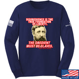 9mmsmg Obedient Equals Slavery Long Sleeve T-Shirt Long Sleeve Small / Navy by Ballistic Ink - Made in America USA