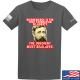 9mmsmg Obedient Equals Slavery T-Shirt T-Shirts Small / Charcoal by Ballistic Ink - Made in America USA