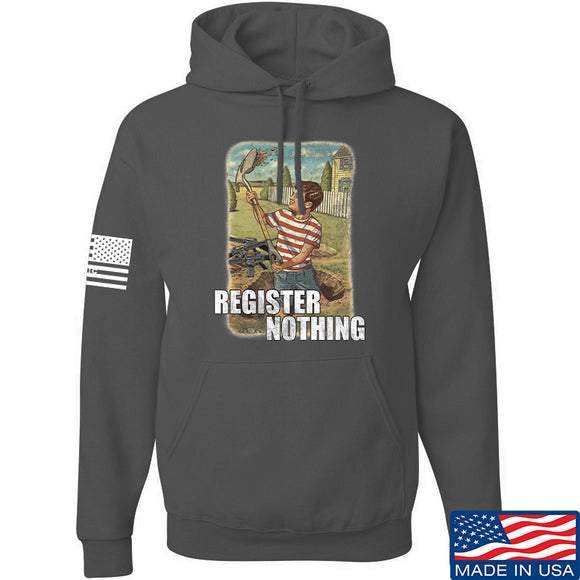 9mmsmg Register Nothing Hoodie Hoodies Small / Charcoal by Ballistic Ink - Made in America USA