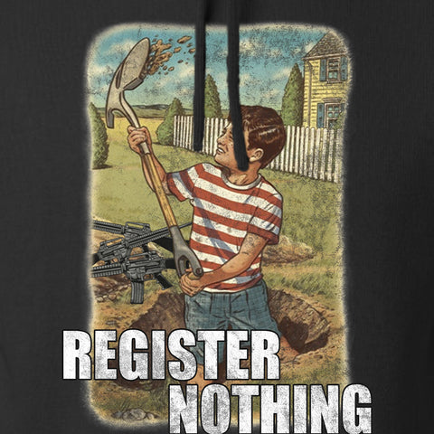 9mmsmg Register Nothing Hoodie Hoodies [variant_title] by Ballistic Ink - Made in America USA