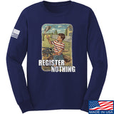 9mmsmg Register Nothing Long Sleeve T-Shirt Long Sleeve Small / Navy by Ballistic Ink - Made in America USA