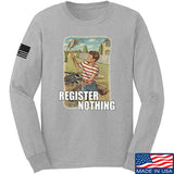 9mmsmg Register Nothing Long Sleeve T-Shirt Long Sleeve Small / Light Grey by Ballistic Ink - Made in America USA