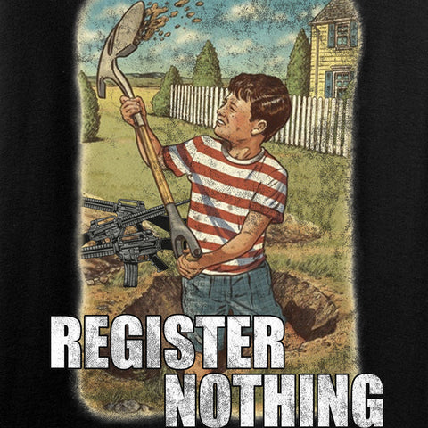 9mmsmg Register Nothing Long Sleeve T-Shirt Long Sleeve [variant_title] by Ballistic Ink - Made in America USA