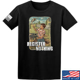 9mmsmg Register Nothing T-Shirt T-Shirts Small / Black by Ballistic Ink - Made in America USA