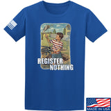 9mmsmg Register Nothing T-Shirt T-Shirts Small / Blue by Ballistic Ink - Made in America USA