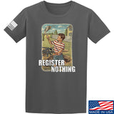 9mmsmg Register Nothing T-Shirt T-Shirts Small / Charcoal by Ballistic Ink - Made in America USA