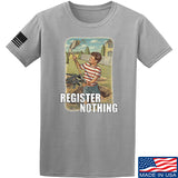 9mmsmg Register Nothing T-Shirt T-Shirts Small / Light Grey by Ballistic Ink - Made in America USA