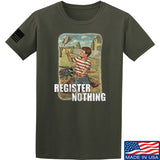 9mmsmg Register Nothing T-Shirt T-Shirts Small / Military Green by Ballistic Ink - Made in America USA