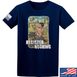 9mmsmg Register Nothing T-Shirt T-Shirts Small / Navy by Ballistic Ink - Made in America USA