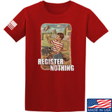 9mmsmg Register Nothing T-Shirt T-Shirts Small / Red by Ballistic Ink - Made in America USA