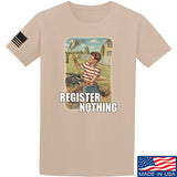 9mmsmg Register Nothing T-Shirt T-Shirts Small / Sand by Ballistic Ink - Made in America USA