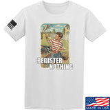 9mmsmg Register Nothing T-Shirt T-Shirts Small / White by Ballistic Ink - Made in America USA