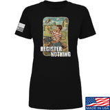 9mmsmg Ladies Register Nothing T-Shirt T-Shirts SMALL / Black by Ballistic Ink - Made in America USA
