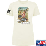 9mmsmg Ladies Register Nothing T-Shirt T-Shirts SMALL / Cream by Ballistic Ink - Made in America USA