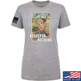 9mmsmg Ladies Register Nothing T-Shirt T-Shirts SMALL / Light Grey by Ballistic Ink - Made in America USA