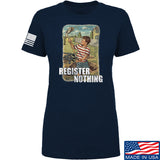 9mmsmg Ladies Register Nothing T-Shirt T-Shirts SMALL / Navy by Ballistic Ink - Made in America USA
