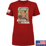 9mmsmg Ladies Register Nothing T-Shirt T-Shirts SMALL / Red by Ballistic Ink - Made in America USA
