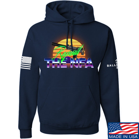 9mmsmg Repeal The NFA Hoodie Hoodies Small / Navy by Ballistic Ink - Made in America USA