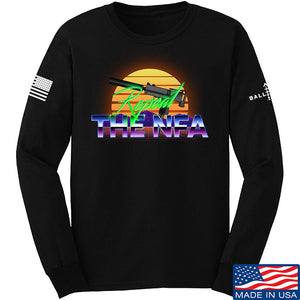 9mmsmg Repeal The NFA Long Sleeve T-Shirt Long Sleeve Small / Black by Ballistic Ink - Made in America USA