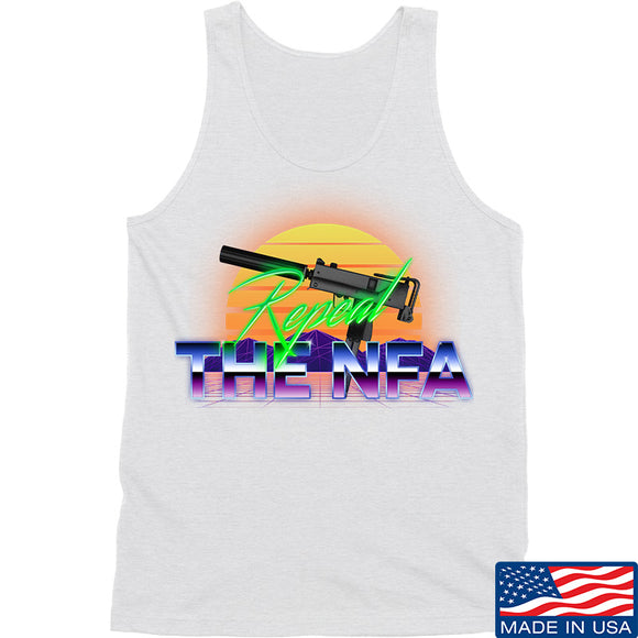 9mmsmg Repeal The NFA Tank Tanks SMALL / White by Ballistic Ink - Made in America USA