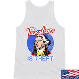 9mmsmg Taxation is Theft Tank Tanks SMALL / White by Ballistic Ink - Made in America USA