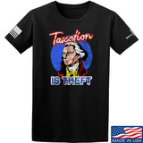 9mmsmg Taxation is Theft T-Shirt T-Shirts Small / Black by Ballistic Ink - Made in America USA