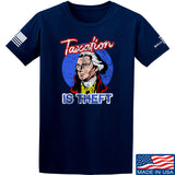 9mmsmg Taxation is Theft T-Shirt T-Shirts Small / Navy by Ballistic Ink - Made in America USA