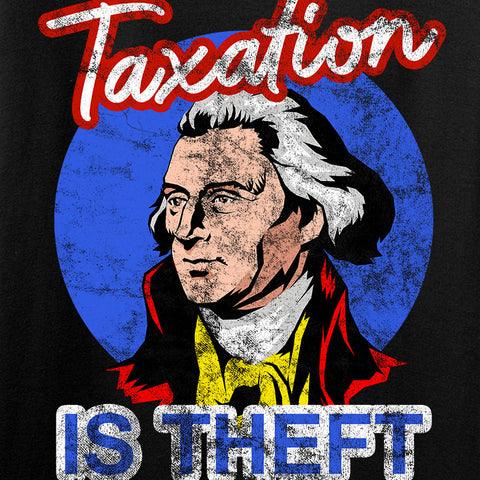 9mmsmg Ladies Taxation is Theft V-Neck T-Shirts, V-Neck [variant_title] by Ballistic Ink - Made in America USA