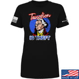 9mmsmg Ladies Taxation is Theft T-Shirt T-Shirts SMALL / Black by Ballistic Ink - Made in America USA