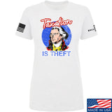 9mmsmg Ladies Taxation is Theft T-Shirt T-Shirts SMALL / White by Ballistic Ink - Made in America USA