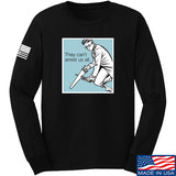 9mmsmg They Can't Arrest Us All Long Sleeve T-Shirt Long Sleeve Small / Black by Ballistic Ink - Made in America USA