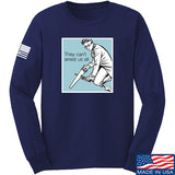 9mmsmg They Can't Arrest Us All Long Sleeve T-Shirt Long Sleeve Small / Navy by Ballistic Ink - Made in America USA