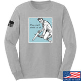 9mmsmg They Can't Arrest Us All Long Sleeve T-Shirt Long Sleeve Small / Light Grey by Ballistic Ink - Made in America USA