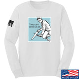 9mmsmg They Can't Arrest Us All Long Sleeve T-Shirt Long Sleeve Small / White by Ballistic Ink - Made in America USA
